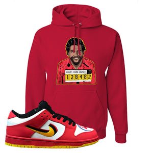 Nike Dunk Low Vietnam 25th Anniversary Pullover Hoodie | Escobar Illustration, Red