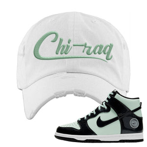 Dunk High All Star 2021 Distressed Dad Hat | Chiraq, White