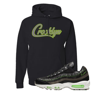 Air Max 95 Black / Electric Green Hoodie | Crooklyn, Black