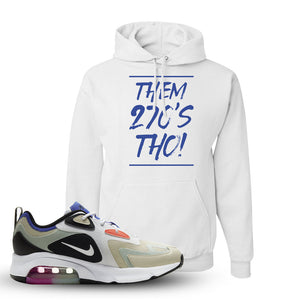 Air Max 200 WMNS Fossil Sneaker White Pullover Hoodie | Hoodie to match Nike Air Max 200 WMNS Fossil Shoes | Them 270S THO