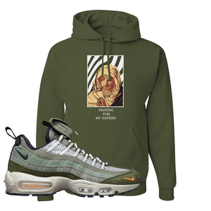 Air Max 95 Surplus Supply Hoodie | God Told Me, Military Green