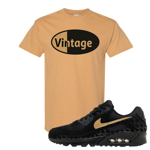 Air Max 90 Black Gold T Shirt | Vintage Oval, Old Gold