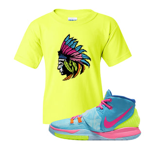 Kyrie 6 Pool Kids T-Shirt | Indian Chief, Safety Green