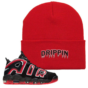 Air More Uptempo Laser Crimson Beanie | Red, Drippin