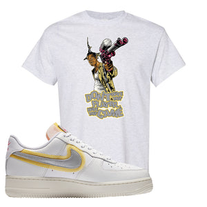 Air Force 1 Low 07 LX White Gold T Shirt | Don't Hate The Playa, Ash