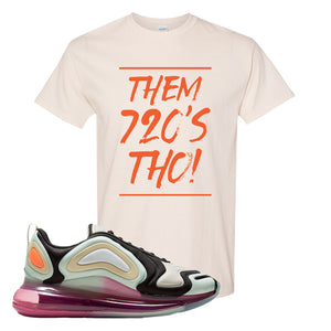 Air Max 720 WMNS Black Fossil Sneaker Natural T Shirt | Tees to match Nike Air Max 720 WMNS Black Fossil Shoes | Them 720S Tho