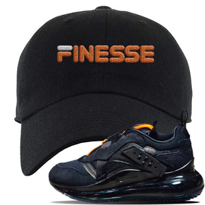 Air Max 720 OBJ Slip Sneaker Black Dad Hat | Hat to match Nike Air Max 720 OBJ Slip Shoes | Finesse