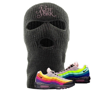 Airmax 95 '20 For 20' Sneaker Dark Gray Ski Mask | Winter Mask to match Nike Airmax 95 '20 For 20' Shoes | Ñew York