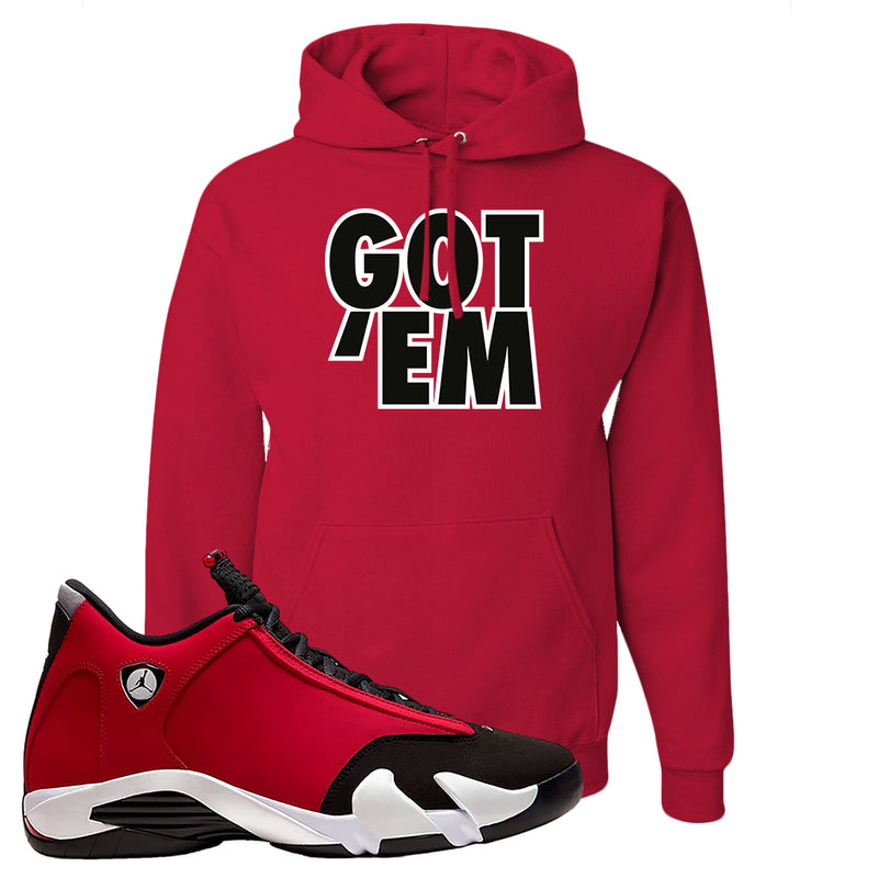Air Jordan 14 Gym Red Hoodie | Red, Got Em