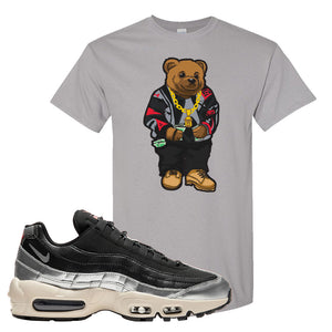 3M x Nike Air Max 95 Silver and Black T Shirt | Sweater Bear, Gravel