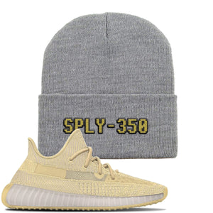 Yeezy Boost 350 V2 Flax Sneaker Light Gray Beanie | Beanie match Adidas Yeezy Boost 350 V2 Flax Shoes | Sply-350