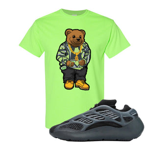 Yeezy 700 v3 Alvah T Shirt | Neon Green, Sweater Bear
