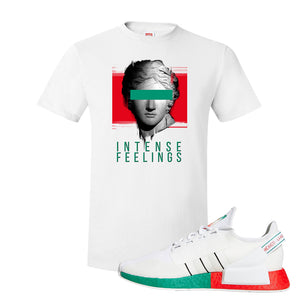NMD R1 V2 Ciudad De Mexico T Shirt | White, Intense Feelings