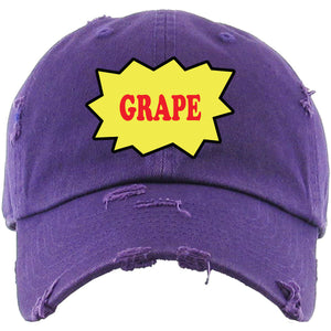 Backwoods Grape Purple Distressed Dad Hat