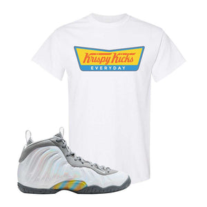 Lil Posite One Rainbow Pixel T Shirt | White, Krispy Kicks