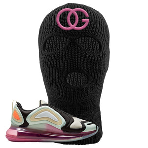 Air Max 720 WMNS Black Fossil Sneaker Black Ski Mask | Winter Mask to match Nike Air Max 720 WMNS Black Fossil Shoes | OG
