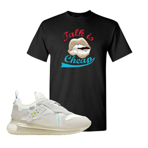 Air Max 720 OBJ Slip White T Shirt | Black, Talk is Cheap