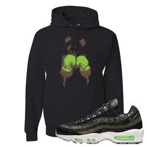 Air Max 95 Black / Electric Green Hoodie | Boxing Panda, Black