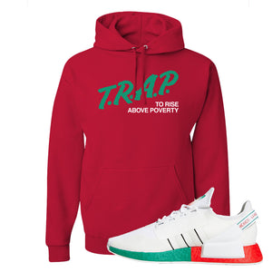 NMD R1 V2 Ciudad De Mexico Hoodie | Red, Trap To Rise Above Poverty