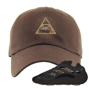 Yeezy 700 v3 Eremial Dad Hat | All Seeing Eye, Brown