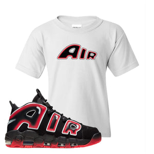 Air More Uptempo Laser Crimson Air From The Sneaker White Sneaker Hook Up Kid's T-Shirt