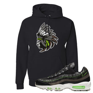 Air Max 95 Black / Electric Green Hoodie | Indian Chief, Black