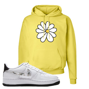 Air Force 1 Hoodie | Yellow, Daisy Flower