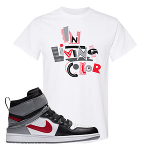 Air Jordan 1 Flyease T Shirt | White, In Living Color