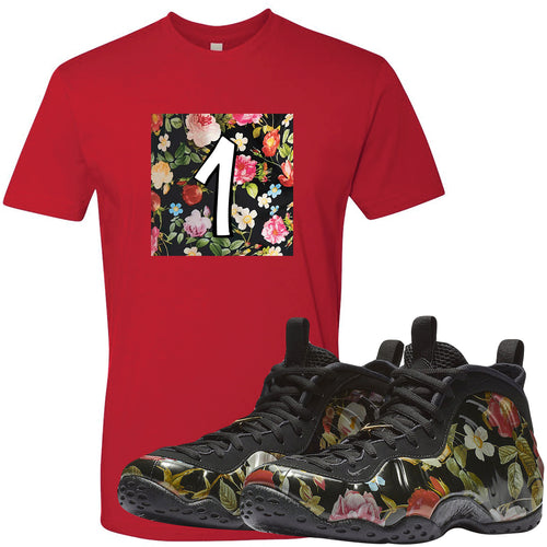 Wear this sneaker matching t-shirt to match your Air Foamposite One Floral sneakers. Match your floral foams today!