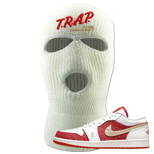 Air Jordan 1 Low Spades Ski Mask | Trap To Rise Above Poverty, White