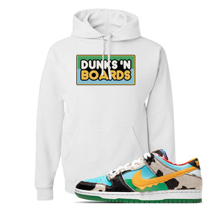 SB Dunk Low 'Chunky Dunky' Hoodie | White, Dunks 'N Boards