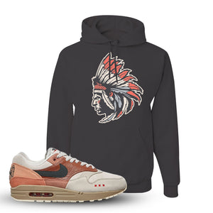 Air Max 1 Amsterdam City Pack Sneaker Charcoal Grey Pullover Hoodie | Hoodie to match Nike Air Max 1 Amsterdam City Pack Shoes | Indian Chief