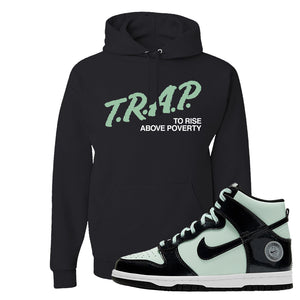 Dunk High All Star 2021 Hoodie | Trap To Rise Above Poverty, Black