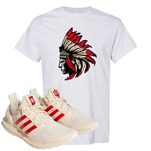 Adidas Ultra Boost 1.0 Indiana T-Shirt | Indian Chief, Ash