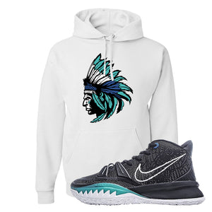 Kyrie 7 Pre Heat Hoodie | Indian Chief, White
