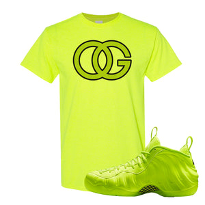 Air Foamposite Pro Volt T Shirt | OG, Safety Green