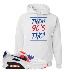 Air Max 90 Paint Streaks Hoodie | Them 90s Tho, White