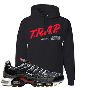 Air Max Plus Remix Pack Hoodie | Trap To Rise Above Poverty, Black