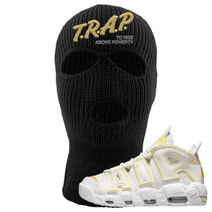 Air More Uptempo Light Citron Ski Mask | Trap To Rise Above Poverty, Black