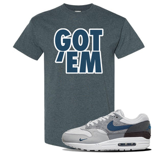 Air Max 1 London City Pack T Shirt | Dark Heather, Got Em