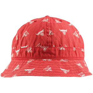 Chicago Bull All Over Print Mitchell and Ness Bucket Hat