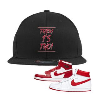 Jordan 1 New Beginnings Pack Sneaker Black Snapback Hat | Hat to match Nike Air Jordan 1 New Beginnings Pack Shoes | Them 1's Tho