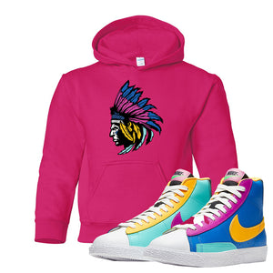 Blazer Mid Big Kids Hoodie | Heliconia, Indian Chief