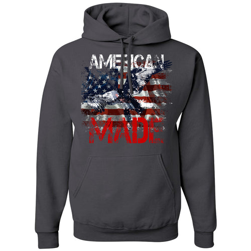 Standard Issue American Made Bald Eagle Gray Grunt Life Hoodie
