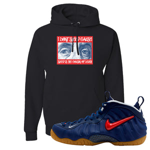 Air Foamposite Pro USA Hoodie | Black, Franklin Eyes