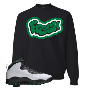 Jordan 10 Seattle Supersonics Crewneck Sweatshirt | Fresh, Black