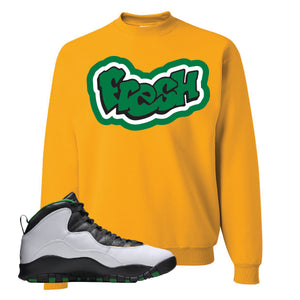 Jordan 10 Seattle Supersonics Crewneck Sweatshirt | Fresh, Gold