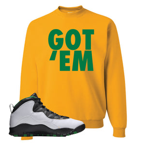 Jordan 10 Seattle Supersonics Crewneck Sweatshirt | Got Em, Gold