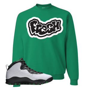 Jordan 10 Seattle Supersonics Crewneck Sweatshirt | Fresh, Kelly