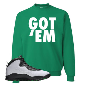 Jordan 10 Seattle Supersonics Crewneck Sweatshirt | Got Em, Kelly